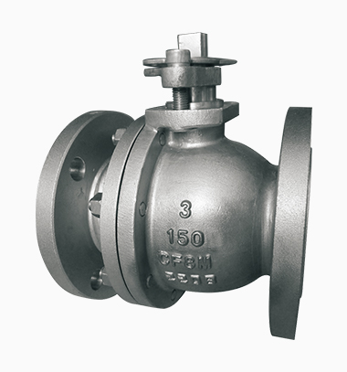 Two-piece cast floating ball valve
